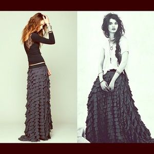 Free People Lydia maxi skirt (s)